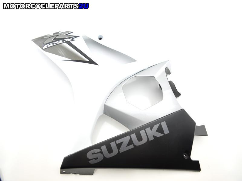 2008 Suzuki GSXR 1000 White Silver Left Fairing