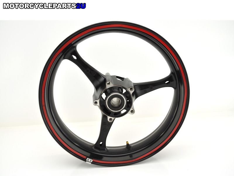 2007 Suzuki GSXR 600 Black Front Wheel Red Trim