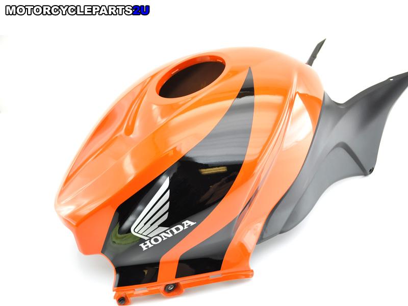 2008 Honda CBR600RR Orange Black Gas Tank Cover