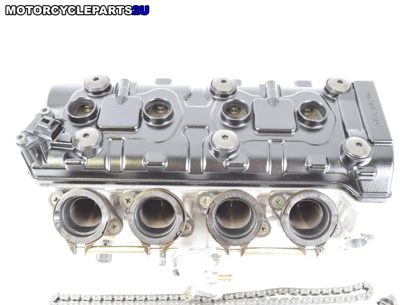 2005 Suzuki GSX-R600 Cylinder Head Assembly Shims in Place