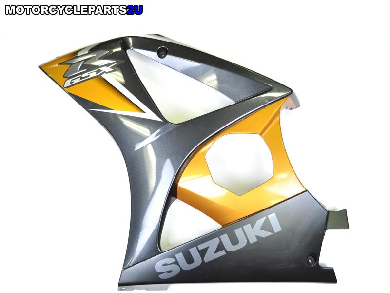 2008 Suzuki GSX-R1000 Black Gold Left Fairing