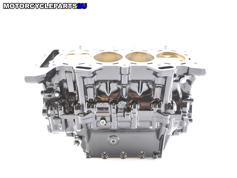 2009 Kawasaki ZX6R Crankcase with Cylinder Rods and Pistons