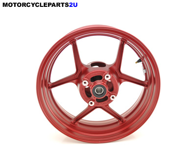 2007 Kawasaki Ninja ZX6R Red Rear Wheel