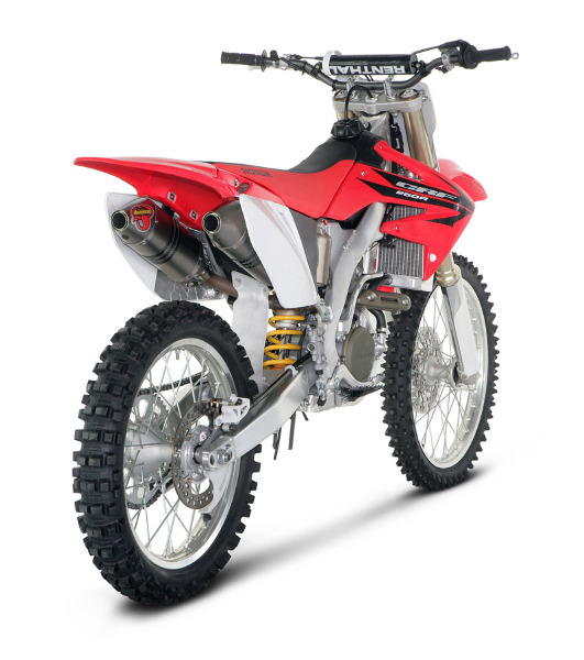 06 07 Honda Crf250r Akrapovic Racing Line Dual Full Exhaust Ss Ti Cf Ebay