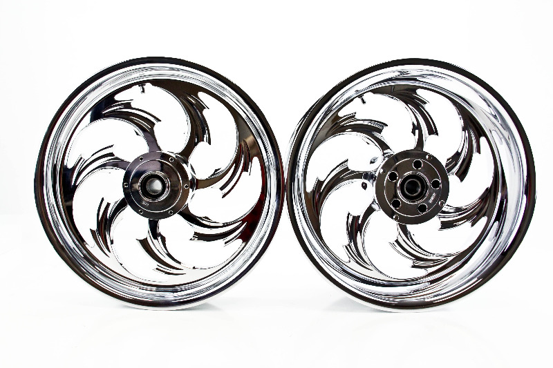 08 11 Honda CBR1000RR RC Components Front and Rear Wheels Chrome Assault