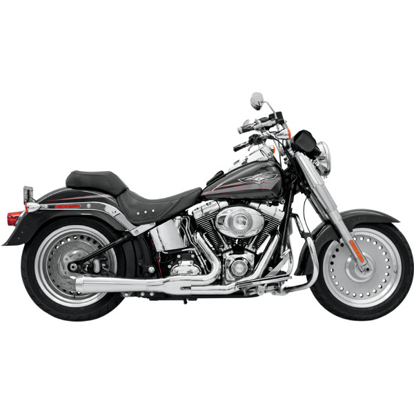 Bassani Road Rage 2 Into 1 Short Megaphone Chrome Exhaust 12112J