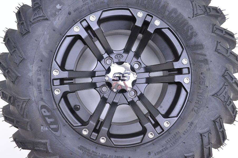 ITP Terracross R T XD SS212 Wheel Kit Rear Tire Set 25x10 12