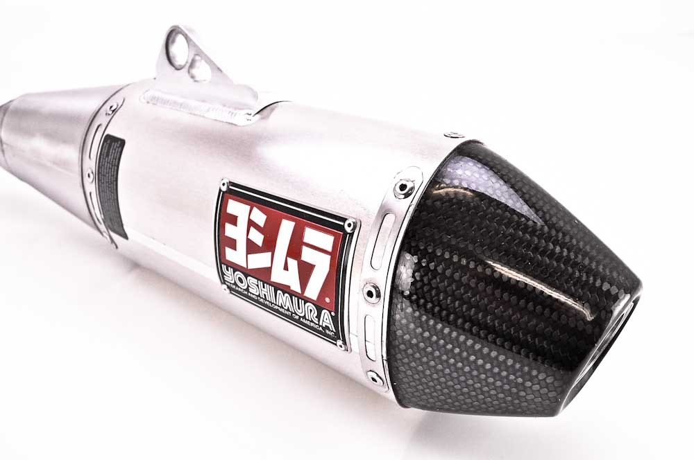 Yoshimura rs signature slip on aluminum w carbon fiber