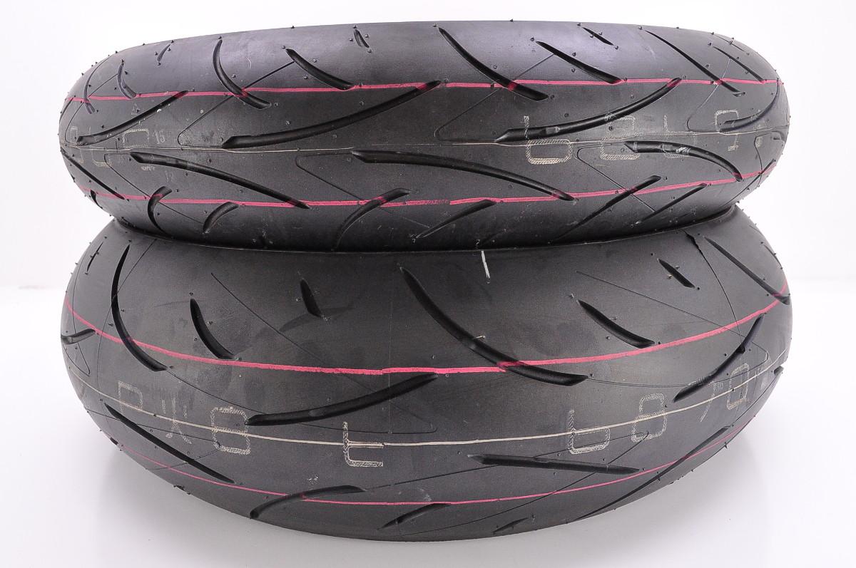 dunlop sportmax d214 front and rear tires 120 70zr17 180. Black Bedroom Furniture Sets. Home Design Ideas