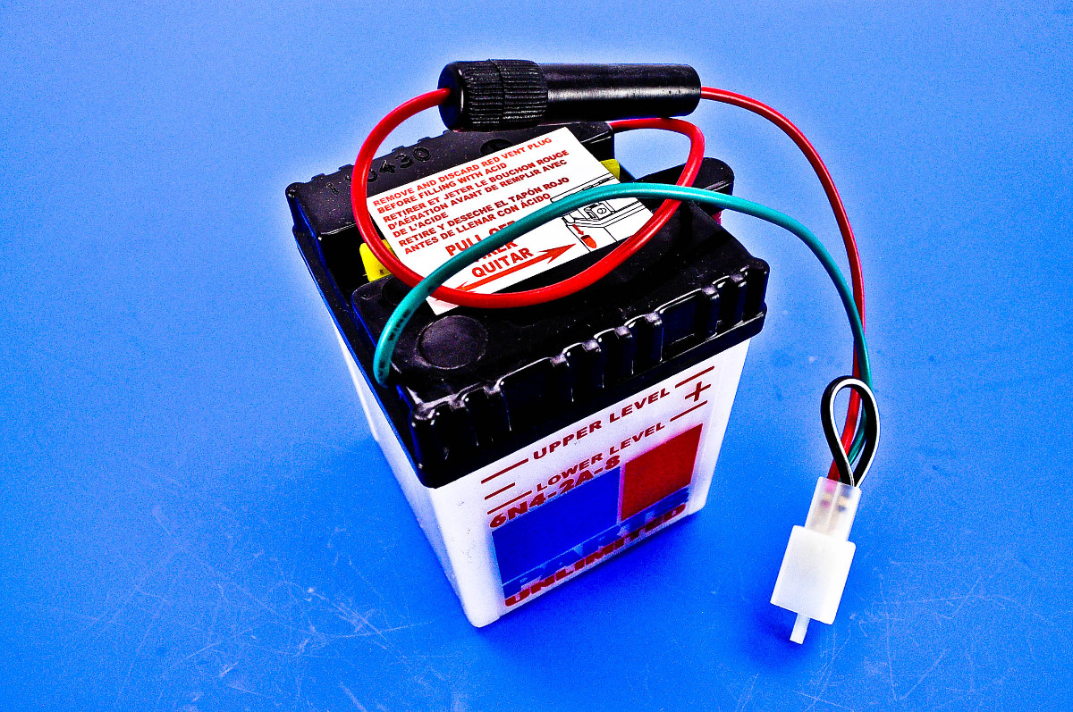 Parts Unlimited 6 Volt Conventional Battery Kit 6n4 2a 8 Fp