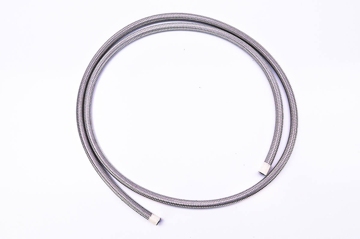 goodridge 6 u0026 39  stainless steel braided 1  4 u0026quot  fuel  oil hose