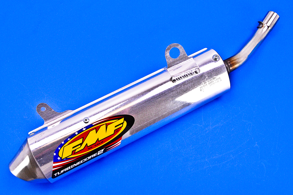96 99 yamaha yz125 fmf turbine 2 silencer with spark arrestor 20357 ebay