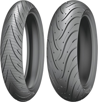 michelin pilot road 3 front rear tires 120 70zr 17 180 55zr 17 37115 35581 ebay. Black Bedroom Furniture Sets. Home Design Ideas