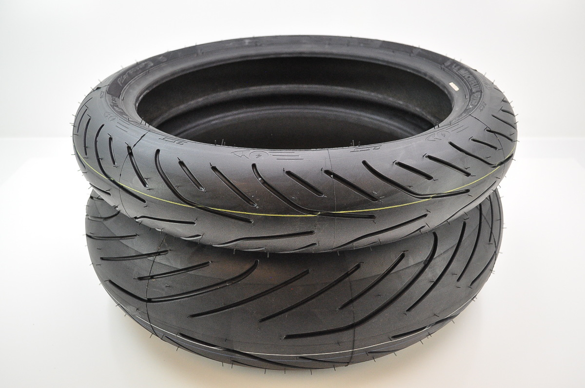 michelin pilot power 3 front rear tires 120 70zr 17 190. Black Bedroom Furniture Sets. Home Design Ideas