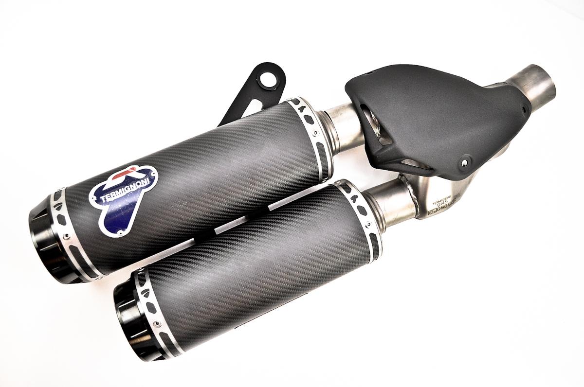 Ducati termignoni homologated carbon fiber slip ons