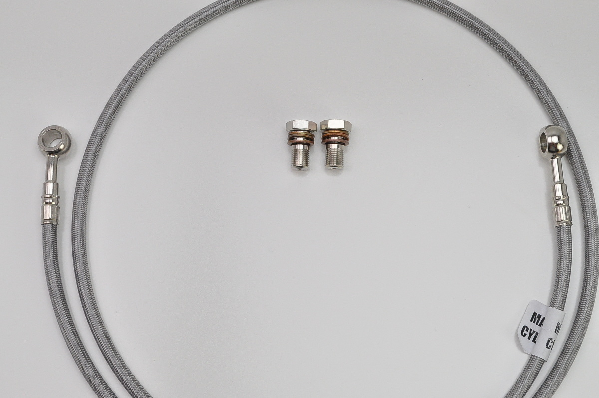 Steel Braided Hydraulic Lines : Gsf bandit galfer braided stainless hydraulic
