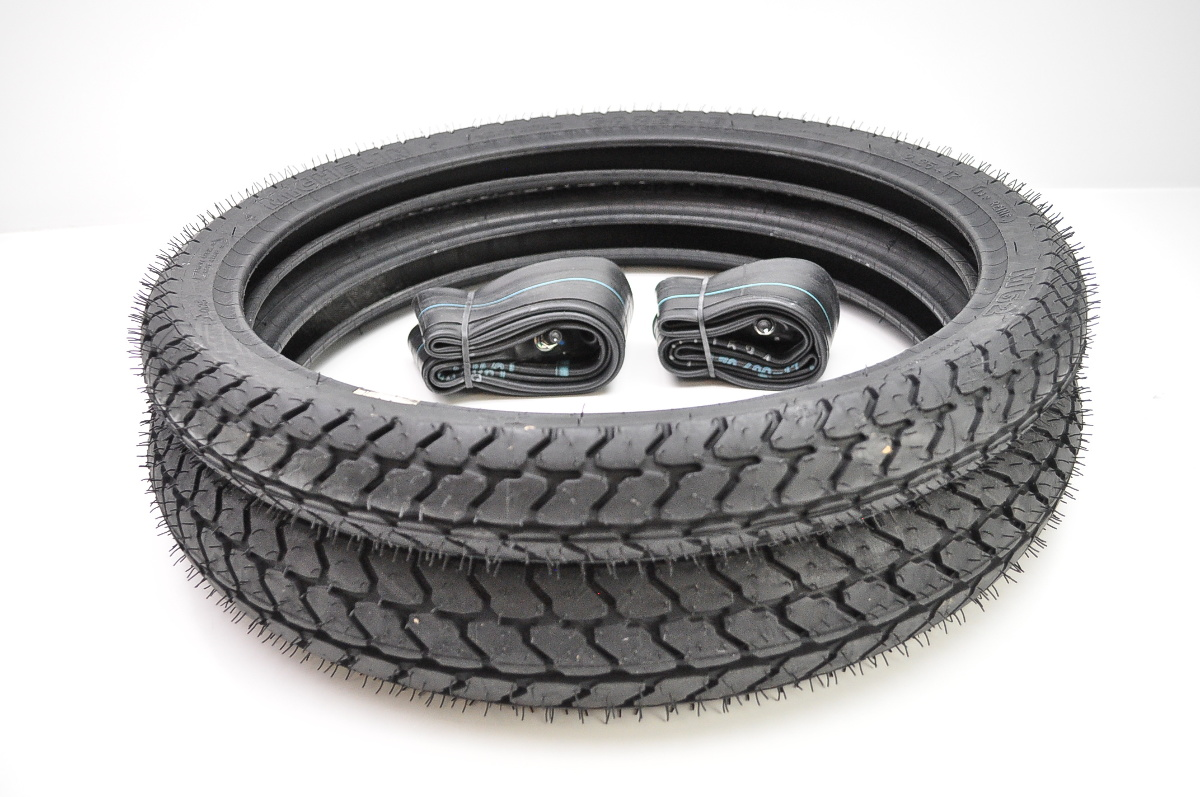 Michelin gazelle m62 moped front rear tires w irc tubes for Tire tub