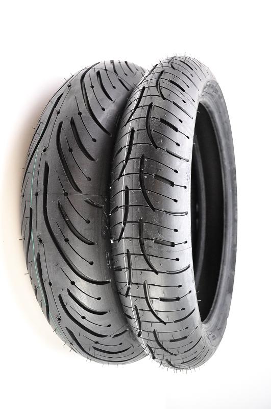 michelin pilot road 4 front rear tires 120 70zr 17 160. Black Bedroom Furniture Sets. Home Design Ideas
