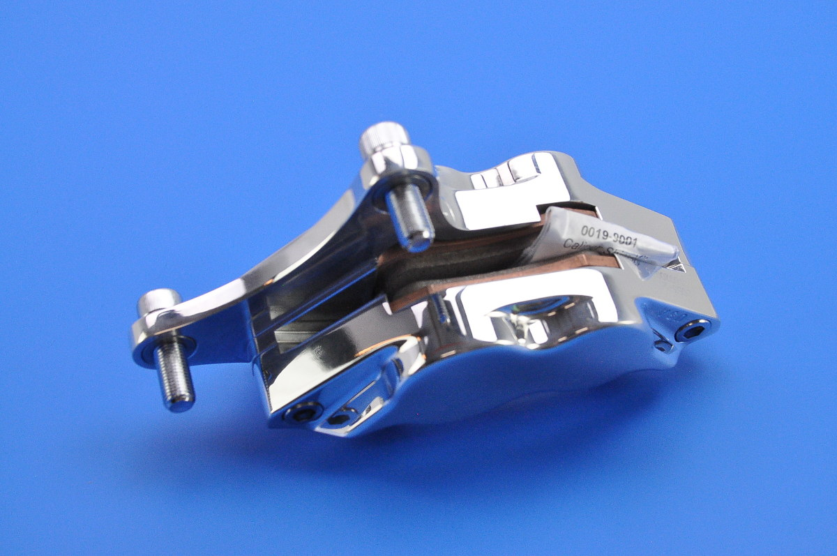 perf machine front left differential bore 4 piston caliper polished 00532915p ebay. Black Bedroom Furniture Sets. Home Design Ideas