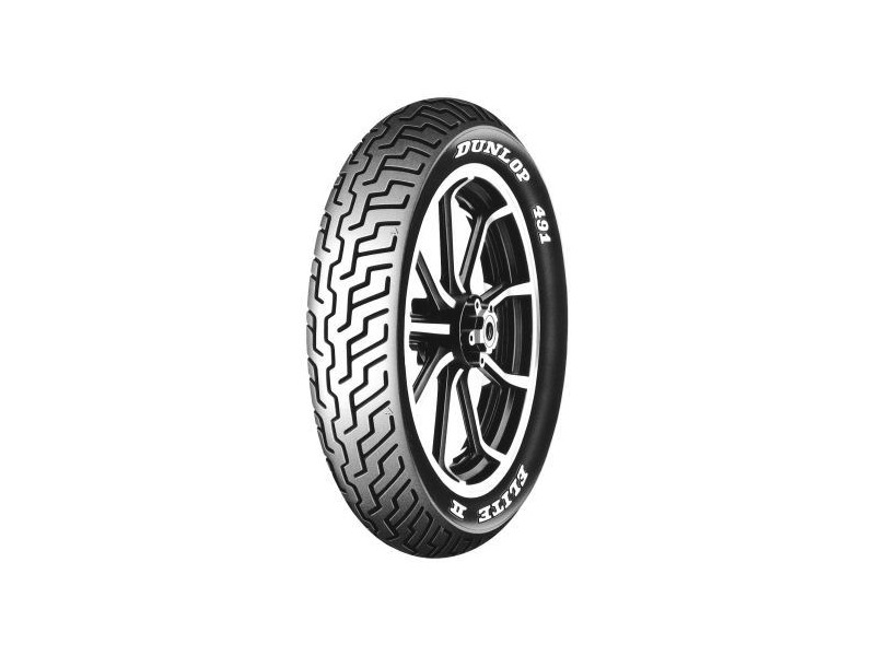 Dunlop 491 elite ii front tire mm90 19 rwl tl 61h ebay for Dunlop white letter motorcycle tires