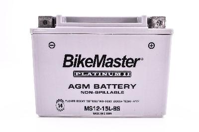 BikeMaster AGM Platinum II Factory Activated Maintenace Free Battery