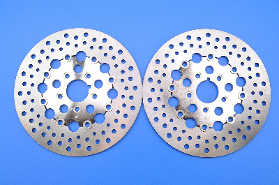 Russell Stainless Steel Floating Front Brake Rotors (Set of 2)