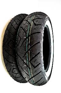 Shinko 777 Whitewall Front & Rear Tire Set