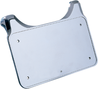 "Drag Specialties 4"" x 7"" Rear Billet License Plate Mount, Chrome"