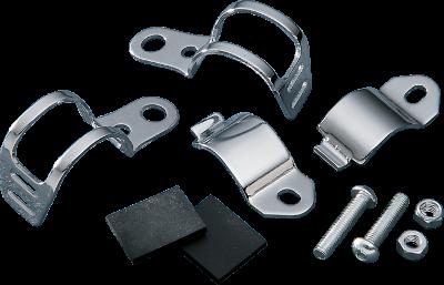 Drag Specialties Front Fork-Mount Marker Light Brackets, Chrome