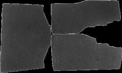 Drag Specialties Saddlebag/Tourbox Floor Mats, Black