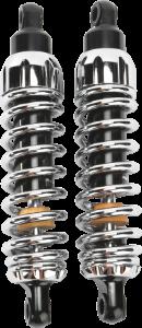 "Progressive Suspension 444 Series Rear Shocks 12"" Chrome"