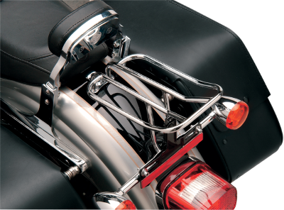 "Drag Specialties 10"" L x 6"" W Fender Luggage Rack, Chrome"