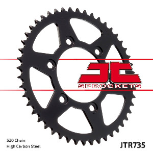 JT Sprocket,s 520 Steel Rear Sprocket, 44T