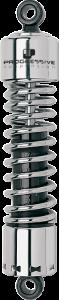 "Progressive Suspension 412 Series Heavy Duty Rear Shocks 12"" Chrome"