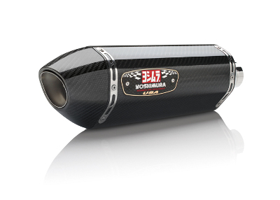 Yoshimura R-77 Signature Series Slip-On Muffler - Carbon Fiber with Carbon Fiber End Cap