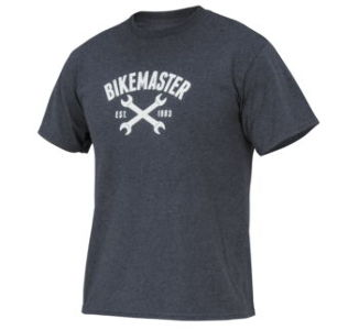 BikeMaster WM Women's Wrench Love Tee, Dark Heather Grey