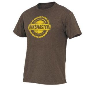 BikeMaster Men's Chain'd Tee, L - Brown/Gold