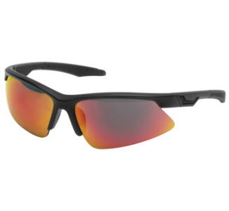 BikeMaster Aero Lite Sunglass, Matte Black w/Red