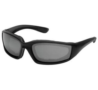 BikeMaster Matte Black w/Smoke Lens Rider Wrap Sunglasses