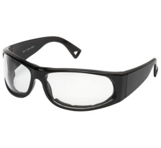 BikeMaster Black w/Clear Lens Track Sunglasses