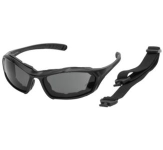 BikeMaster Black w/Smoke Lens Rocker Convertible Sunglasses