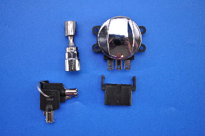 Drag Specialties Side Hinge Ignition Switch, Chrome