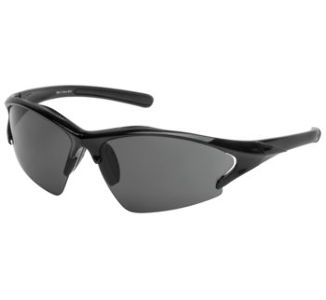 BikeMaster Black w/Smoke Lens Chevron Sunglasses