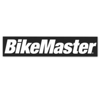 BikeMaster Black w/White Letters Sticker, 8.5 in.