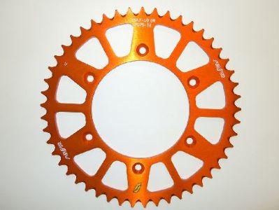 Sunstar Works Triplestar Aluminum Rear Sprocket, 48T - Orange