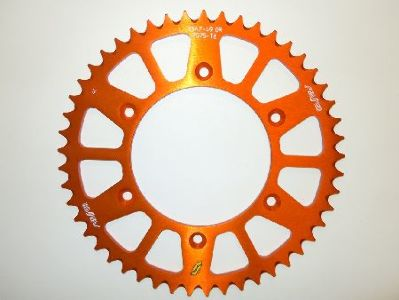 Sunstar Works Triplestar Aluminum Rear Sprocket, 50T - Orange