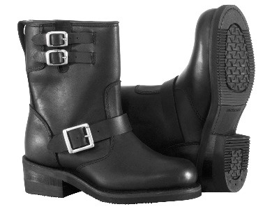 River Road Womens Twin Buckle Engineer Boots