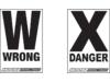 COURSE-ARROW, DANGER/WARN