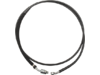 "Drag Specialties 78 1/8"" Stainless Steel Hydraulic Clutch Line, Black"
