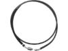 "Drag Specialties 80 1/8"" Stainless Steel Hydraulic Clutch Line, Black"
